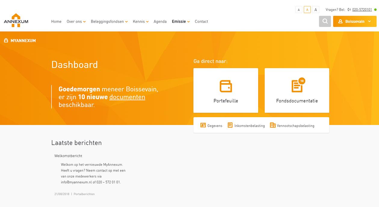 Nieuwe website en beveiligde portal myAnnexum live