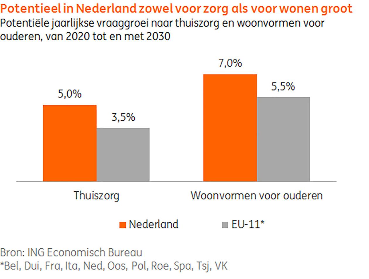 Potentieel in Nederland zowel voor zorg als voor wonen groot