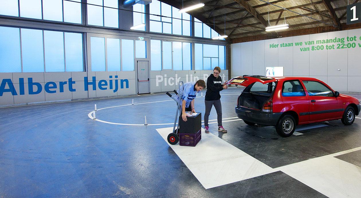 Boodschappen ophalen bij een Albert Heijn Pick Up Point