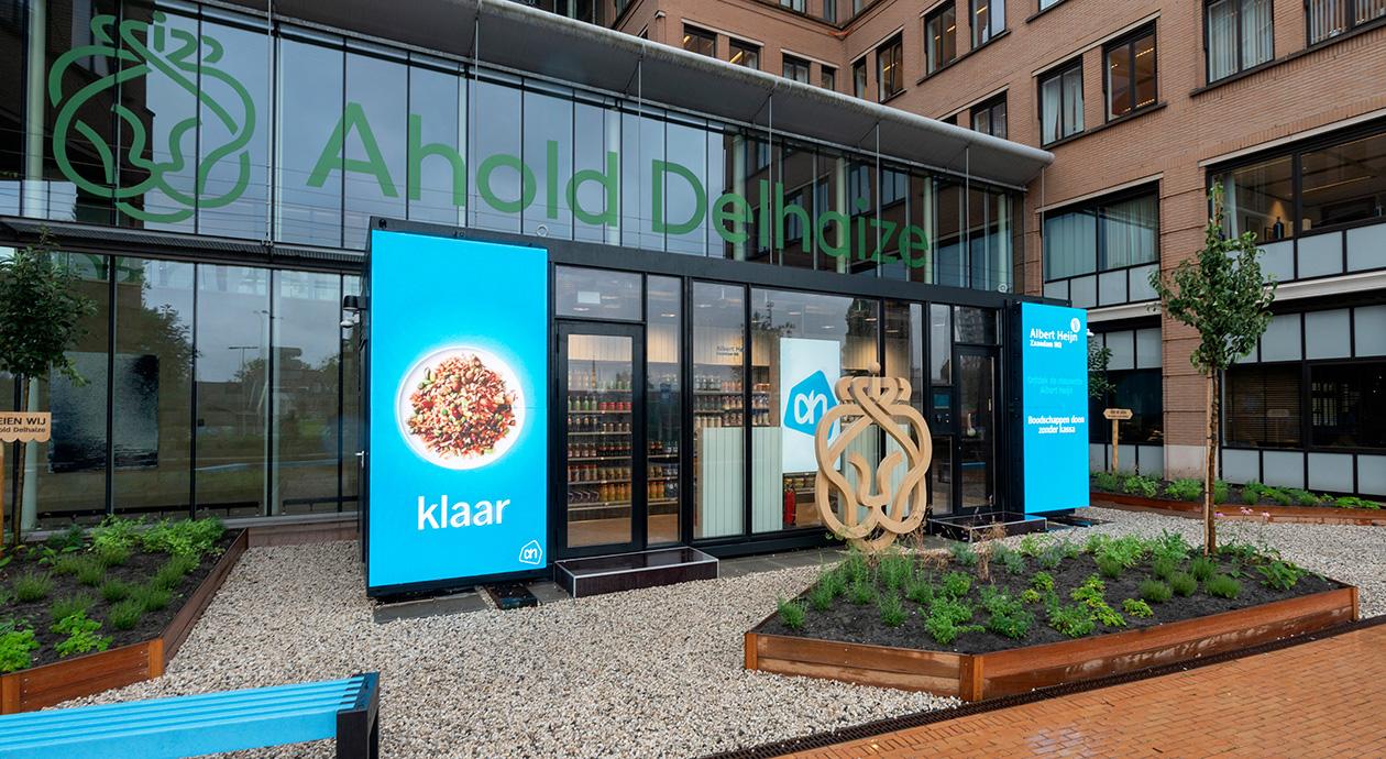 14 m² vol techniek: Albert Heijn test digitaal winkeltje