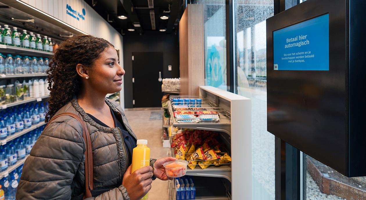 Digitale winkel van Albert Heijn in Zaandam