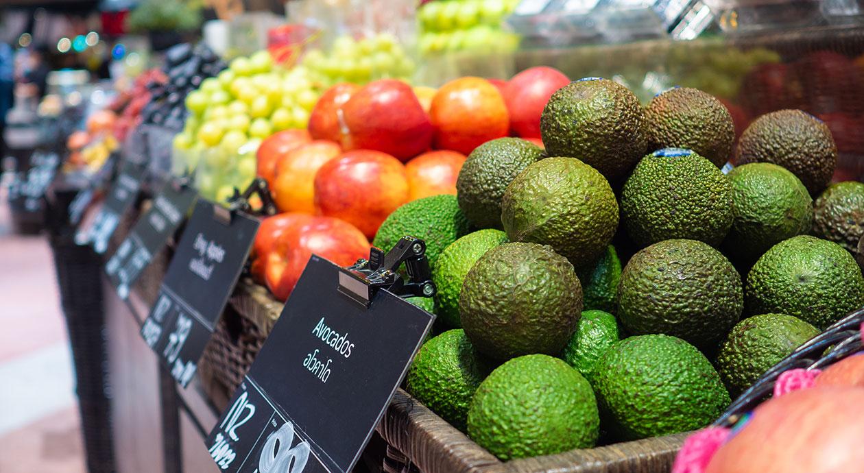Biologische boodschappen in de supermarkt