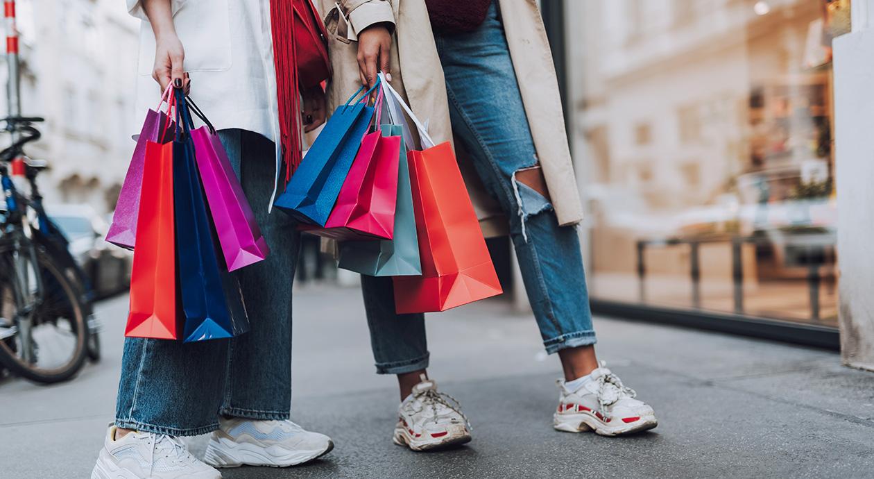 Shoppen in de winkelstraat
