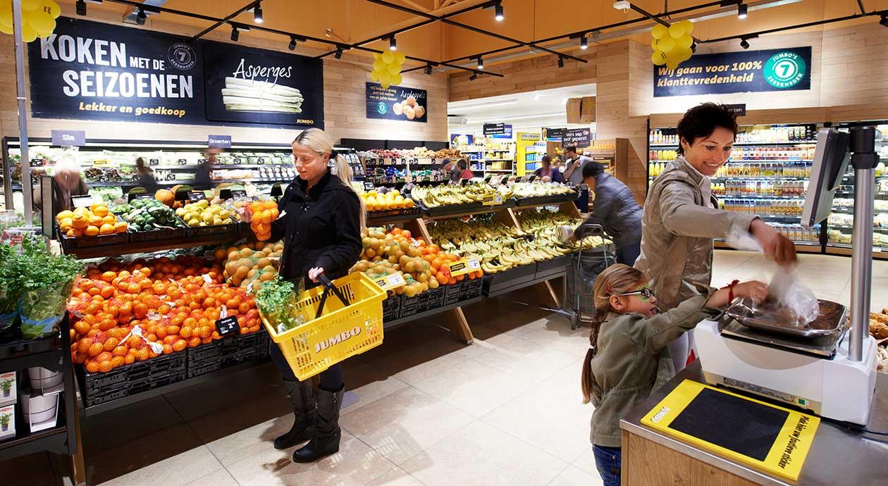 Boodschappen doen in de supermarkt