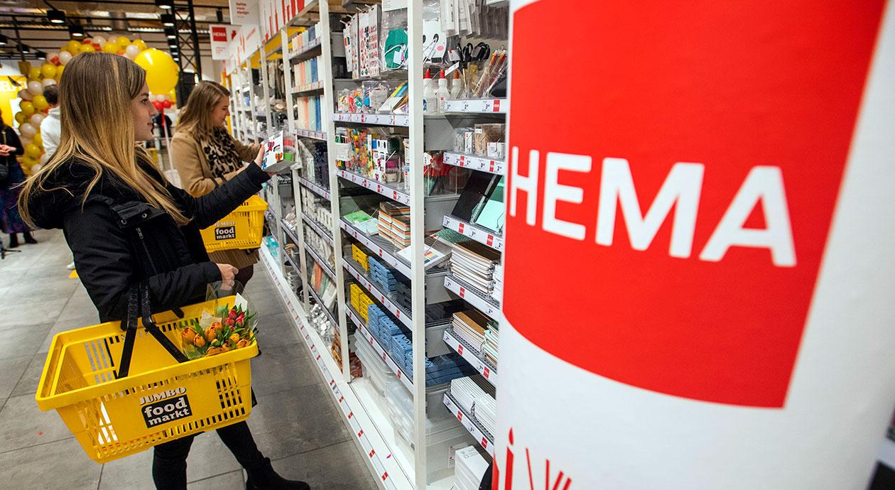 HEMA-producten nu ook in het schap bij Jumbo