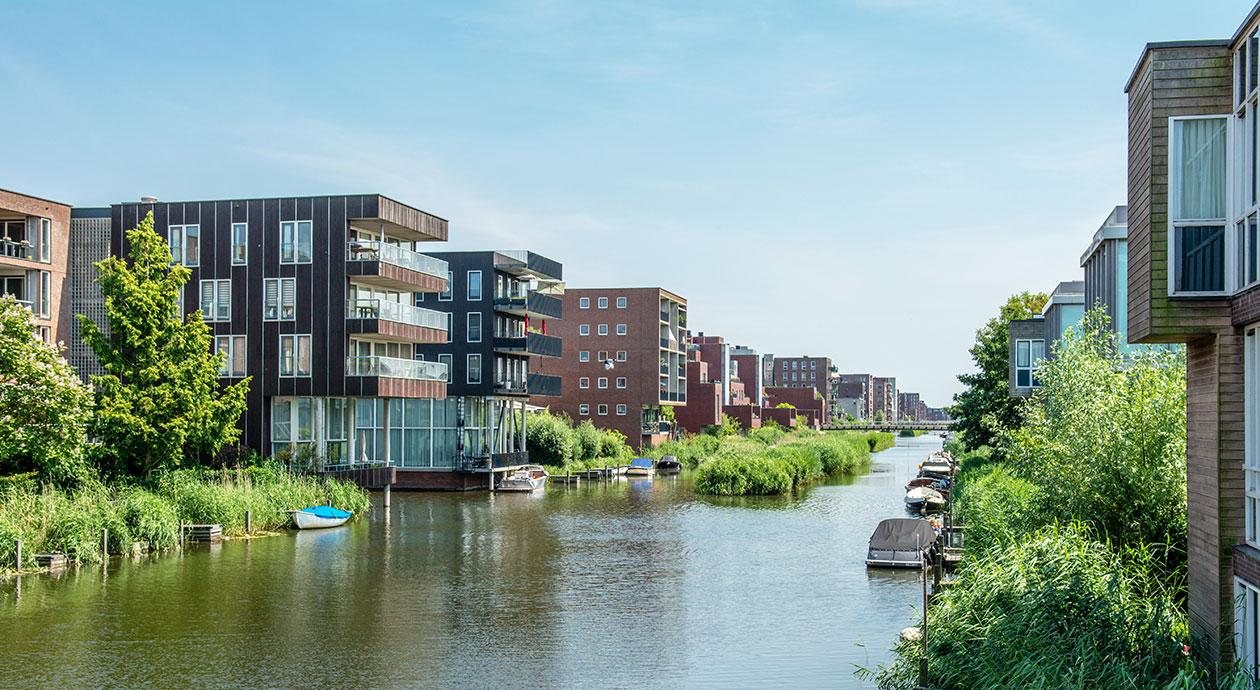 Woningen op IJburg in Amsterdam
