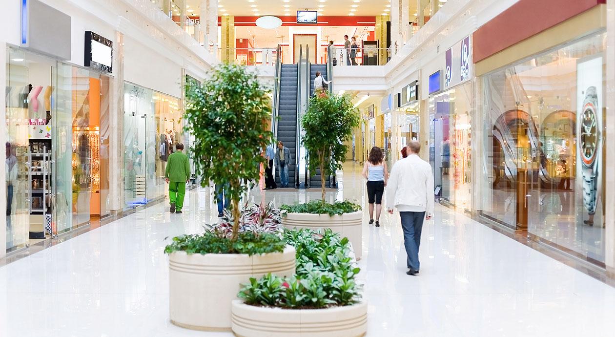 Shoppen in winkelcentra