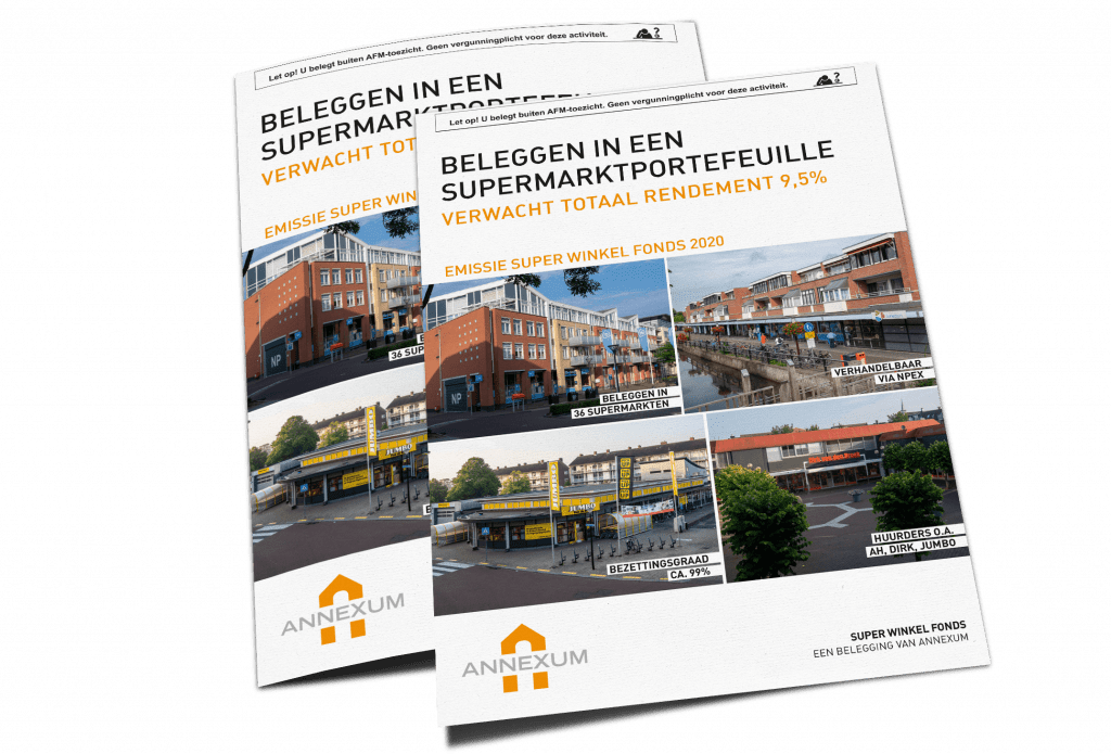 Brochure Super Winkel Fonds | Beleggen in een supermarktportefeuille