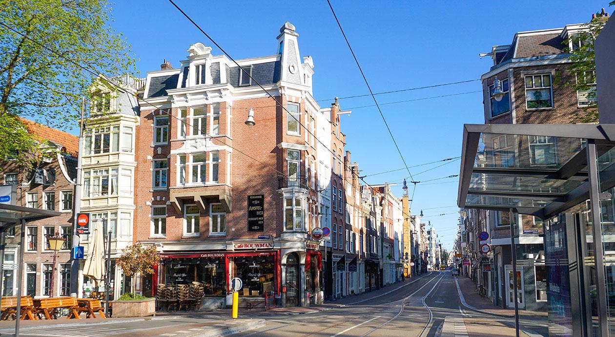 Lege winkelstraten in Amsterdam
